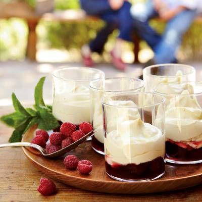 Vanilla Zabaglione with Raspberries
