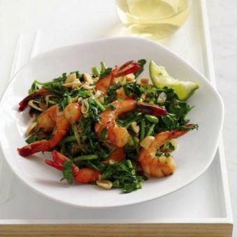 Vietnamese-Style Shrimp and Watercress Stir-Fry