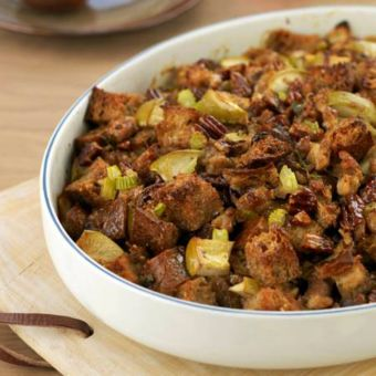 Whole-Grain Stuffing with Apples, Sausage and Pecans