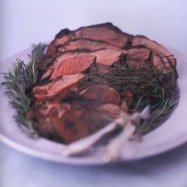 Grilled Butterflied Leg of Lamb with Garlic and Rosemary