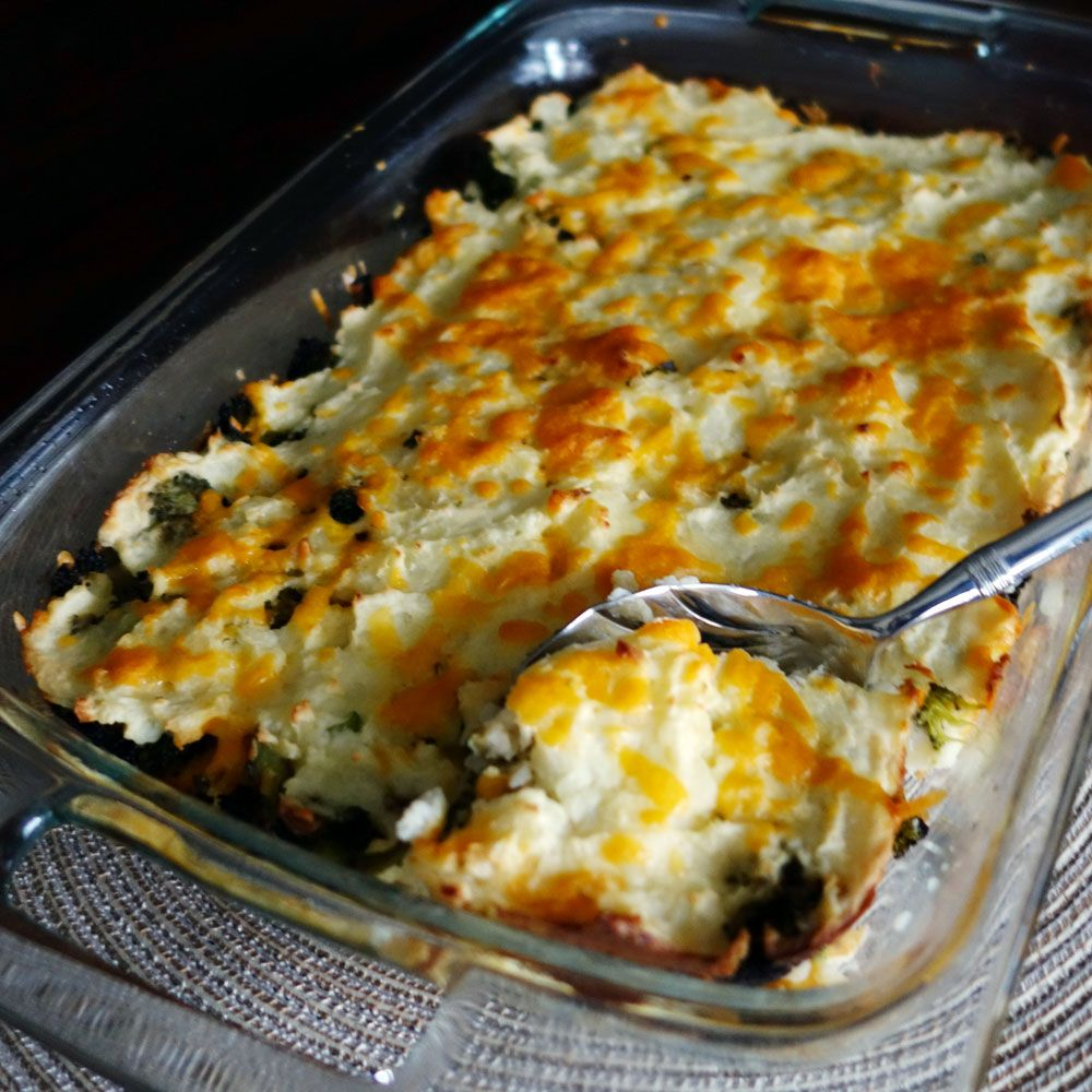 Mashed Potato and Broccoli Casserole