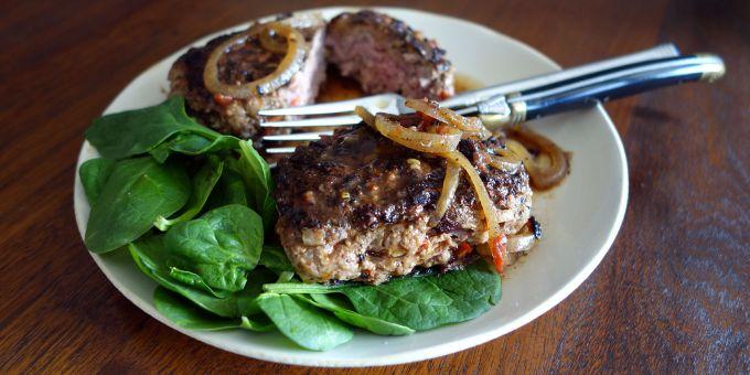 Red Pepper Salisbury Steaks with Brown Gravy