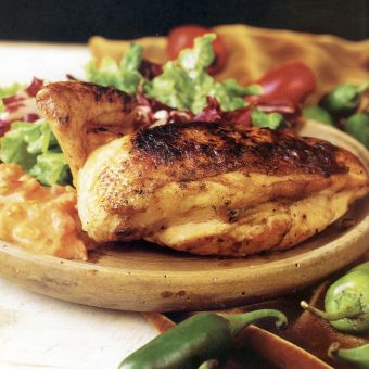 Grilled Chicken with Spicy Brazilian Tomato and Coconut Sauce