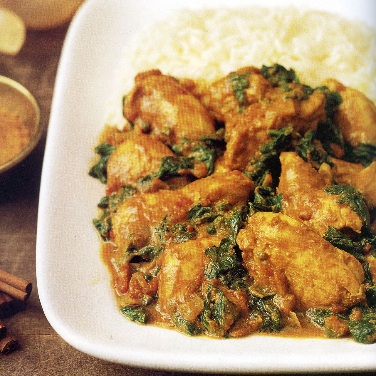 Indian-Spiced Chicken and Spinach