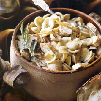 Orecchiette with Chicken, Caramelized Onions, and Blue Cheese
