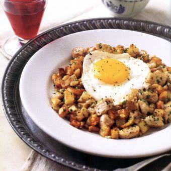 Potato, Mushroom, and Chicken Hash
