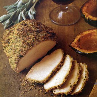 Turkey Breast with Mustard Sage Crumbs