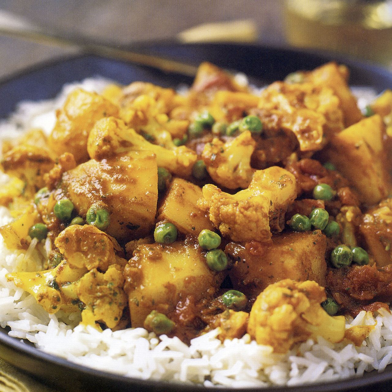 Cauliflower, Potato, and Pea Curry