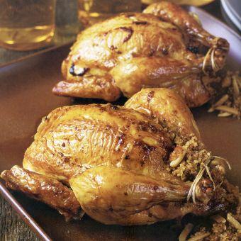 Couscous-Stuffed Cornish Hens