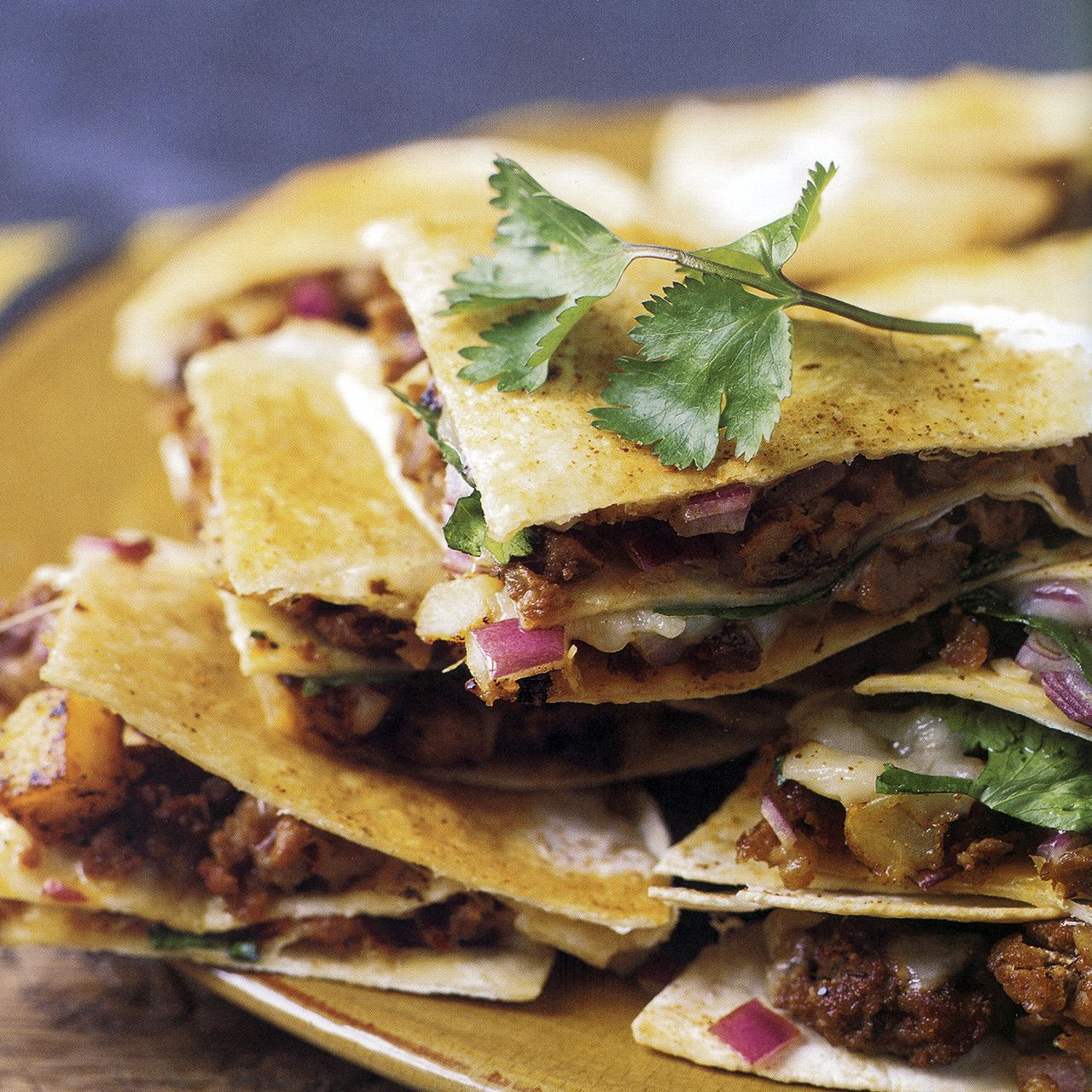 Sausage and Potato Quesadillas