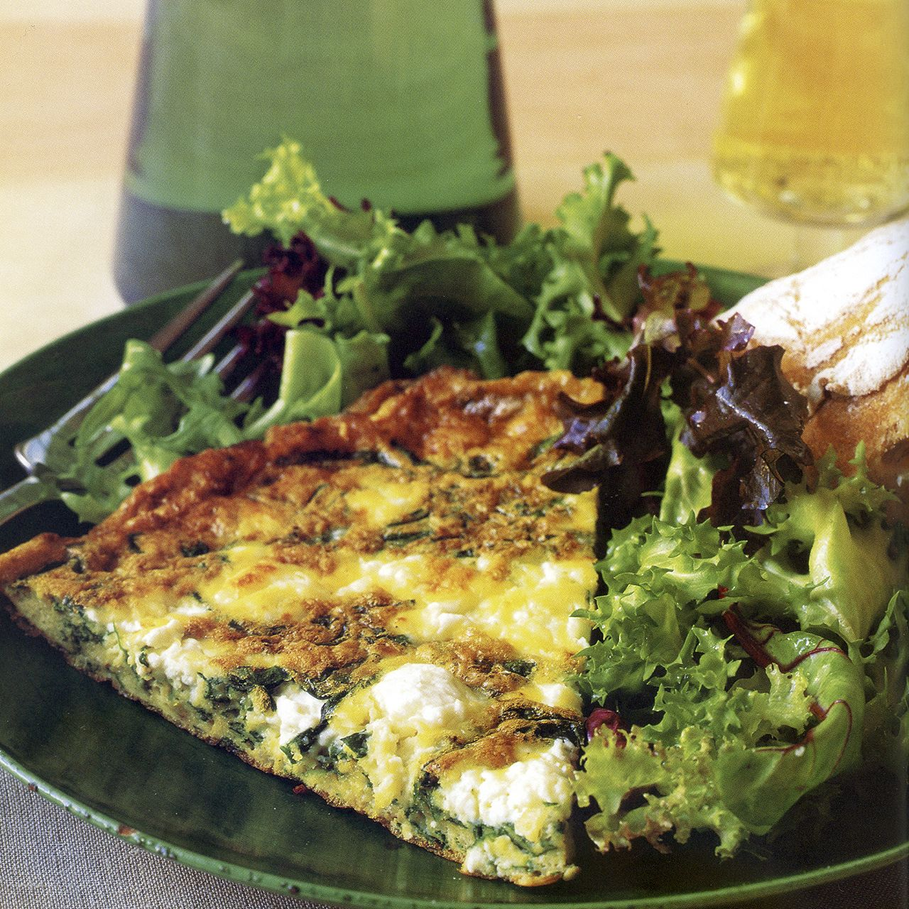 Spinach, Feta and Tarragon Frittata
