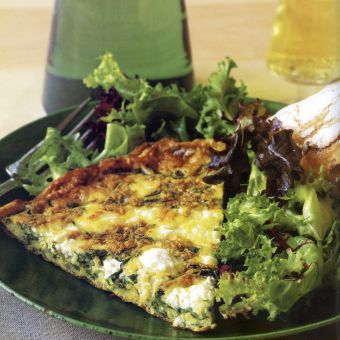 Spinach, Feta and Tarragon Frittata