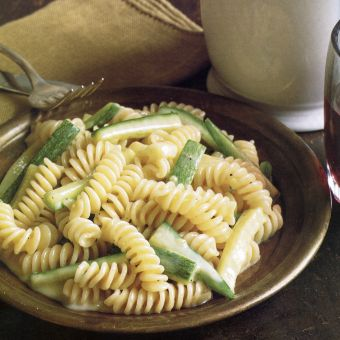 Fusilli with Zucchini and Fonduta
