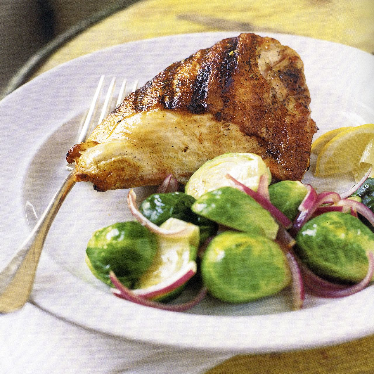 Grilled Chicken Breasts with Lemon and Thyme