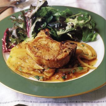 Pork Chops with Marsala and Fennel