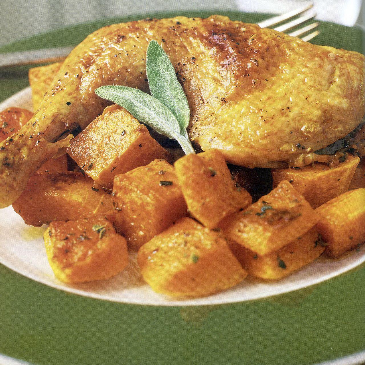 Roast Chicken with Butternut Squash