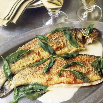 Sauteed Whole Trout with Sage and White Wine
