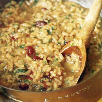 Sun-Dried Tomato and Pesto Risotto