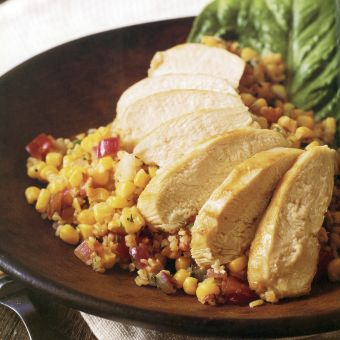 Chicken and Bulgur Salad with Corn