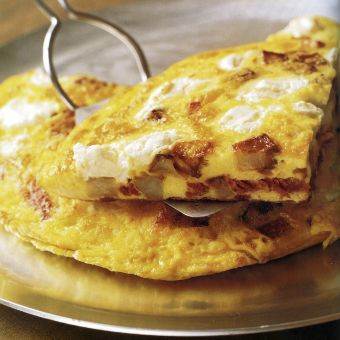 Potato, Salami, and Cheese Frittata