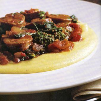 Sausage and Broccoli Rabe with Polenta