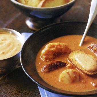 Shellfish Stew with Chorizo and Rouille