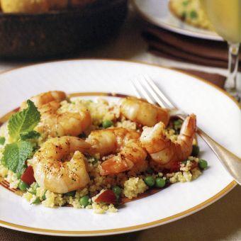 Shrimp with Minty Couscous Salad
