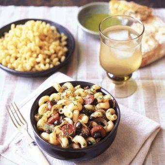 Cavatappi with Chorizo and Black Beans