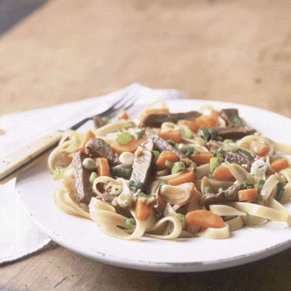 Fettuccine with Five-Spice Pork and Carrots
