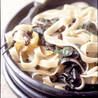 Fettuccine with Swiss Chard and Dried Fruit