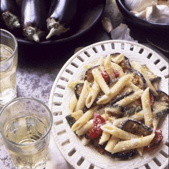 Grilled Vegetable Pasta with Cumin