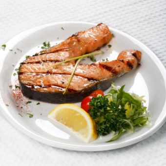 Grilled Salmon with Extra-Virgin Olive Oil, Lemon, and Oregano