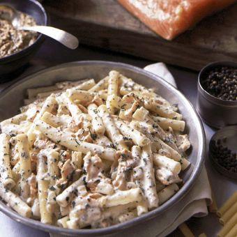 Ziti with Honey Mustard Salmon