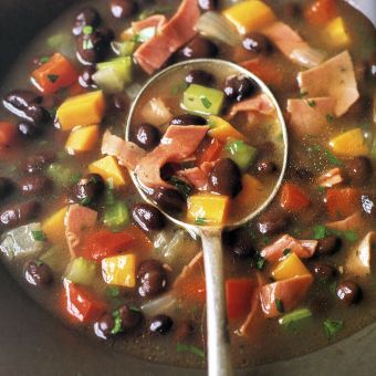 Black Bean and Corned Beef Soup