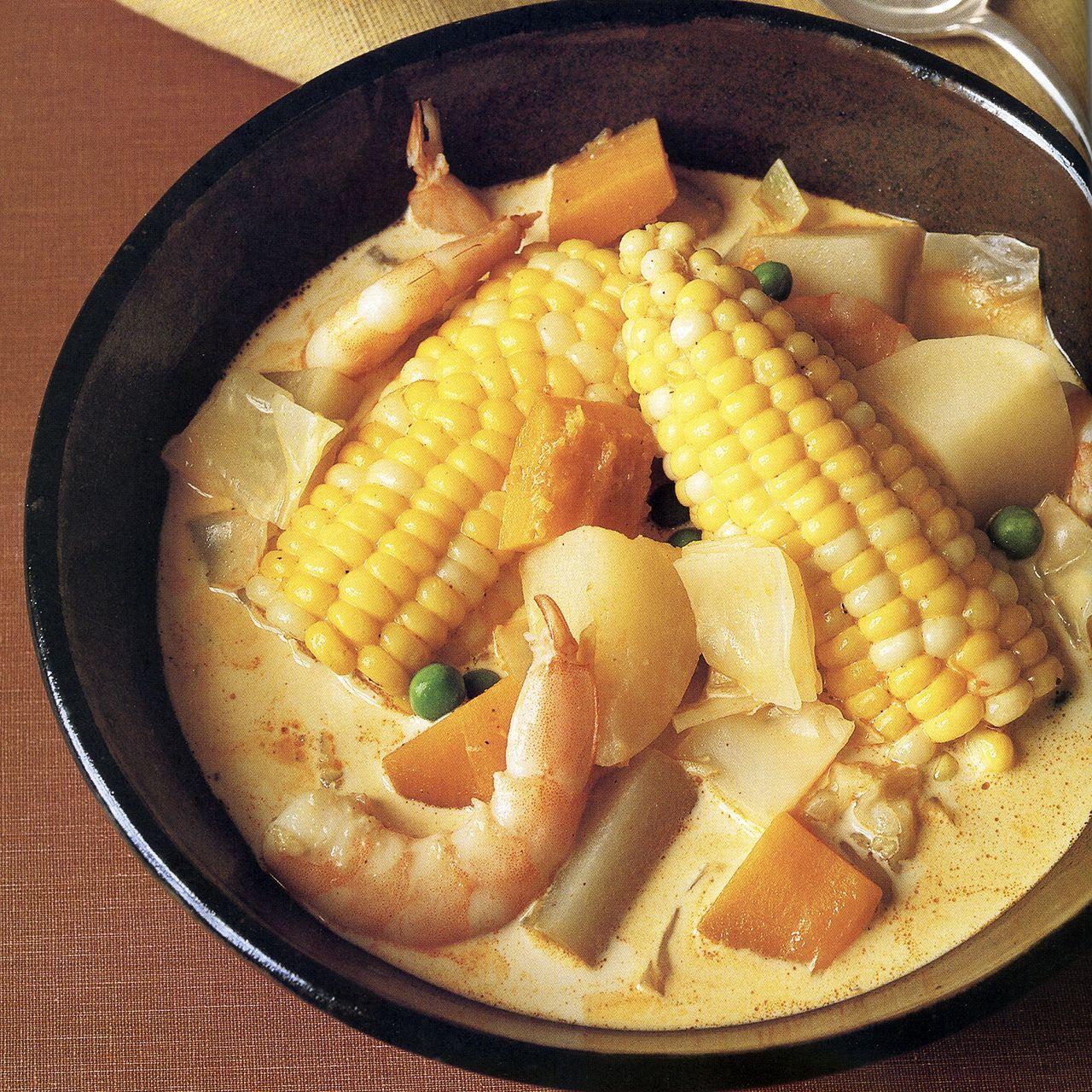 Peruvian Shrimp-and-Corn Chowder