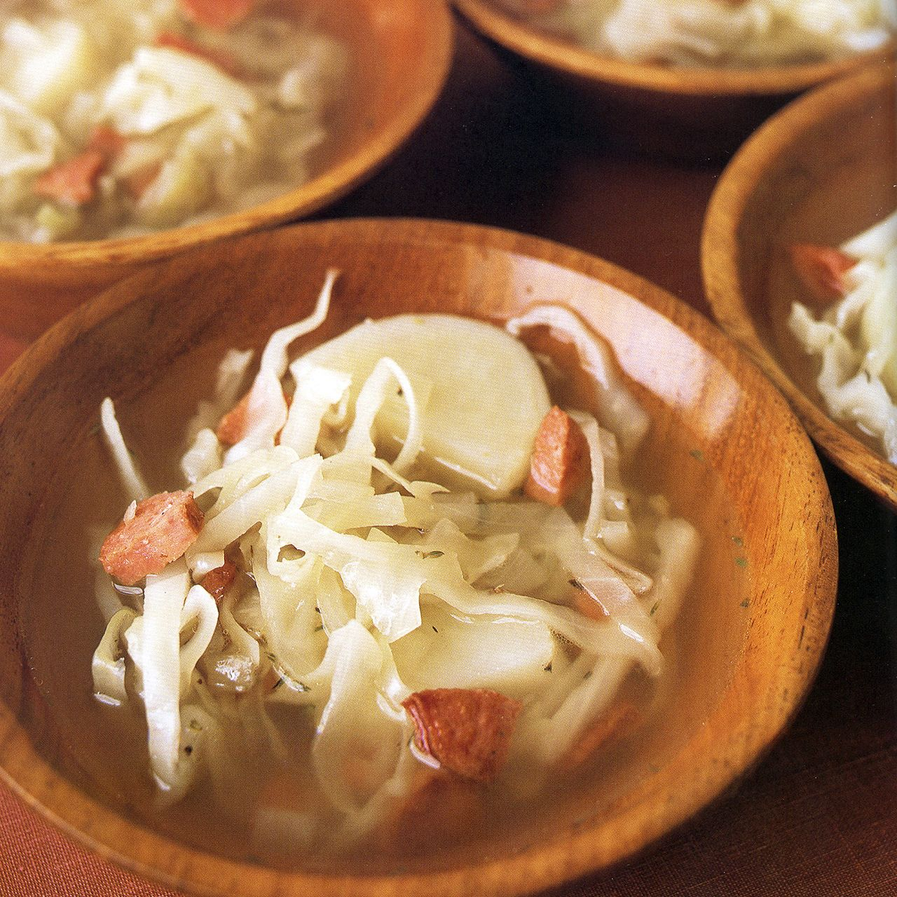 Smoked Sausage, Cabbage and Potato Soup