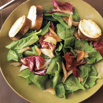 Smoked-Trout Salad with Goat-Cheese Croutes