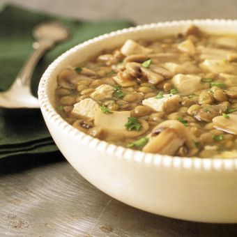 Turkey, Mushroom and Lentil Soup