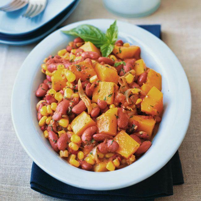 Squash, Bean and Corn Stew