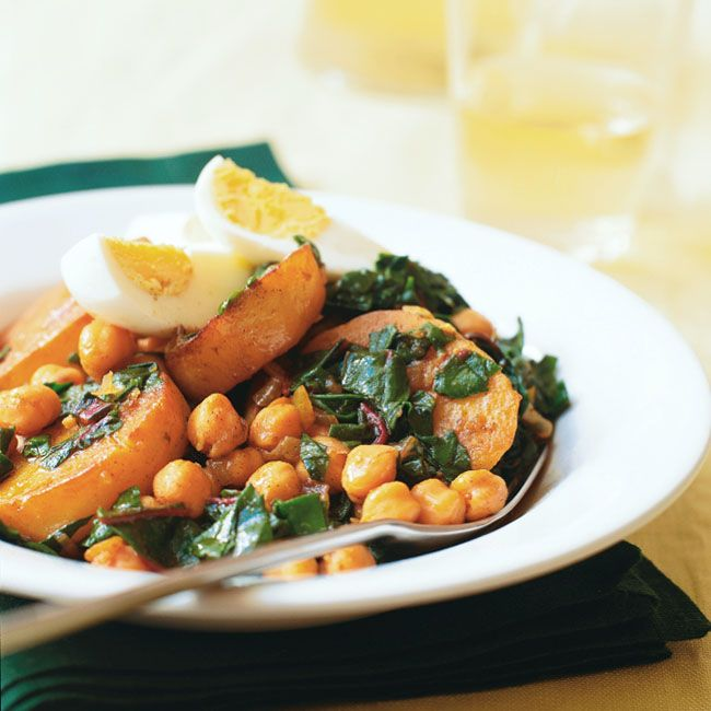 Swiss Chard, Potato and Chickpea Stew