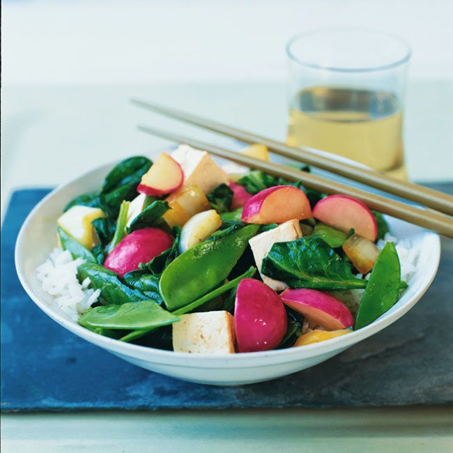 Vegetable Stir-Fry with Ginger Vinaigrette