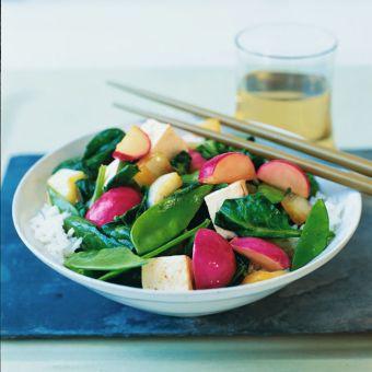 Vegetable Stir-Fry with Ginger Vinaigrette