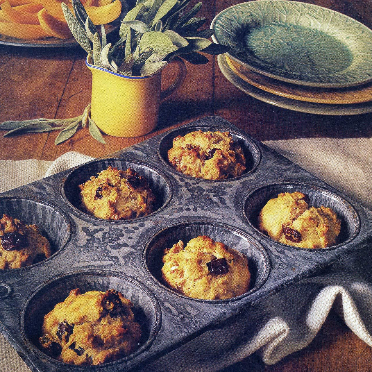 Sun-Dried Cherry, Walnut and Sage Muffins