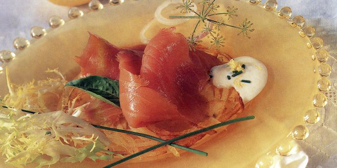Potato Doilies with Smoked Salmon