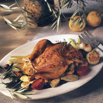 Roast Chicken with Provencal Vegetables