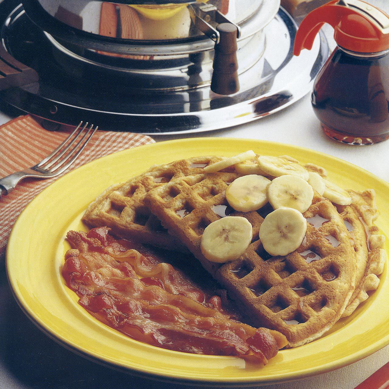 Buttermilk and Banana Waffles