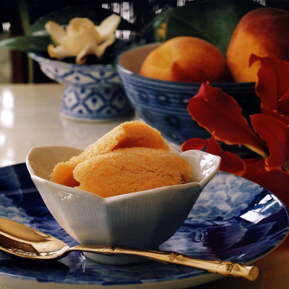 Ginger Peach Sorbet