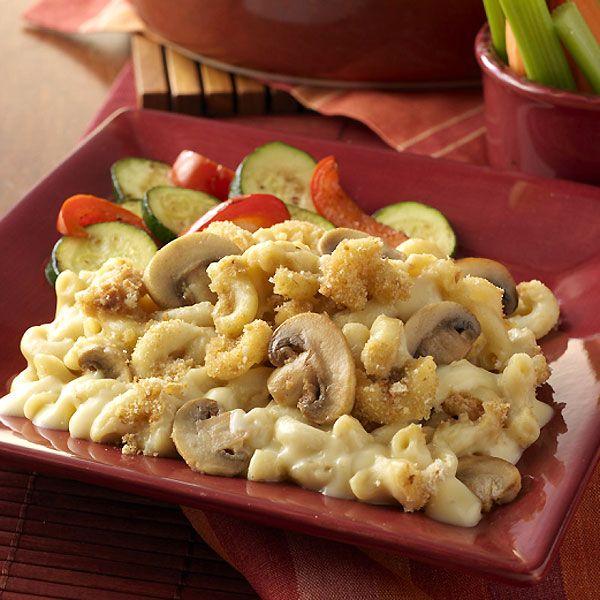 Baked Mushroom Mac 'n' Cheese