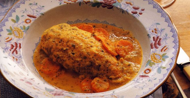 Breast of Chicken with Carrot and Cumin Broth