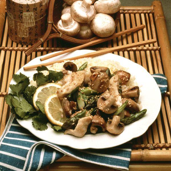 Ginger-Mushroom Stir-Fry